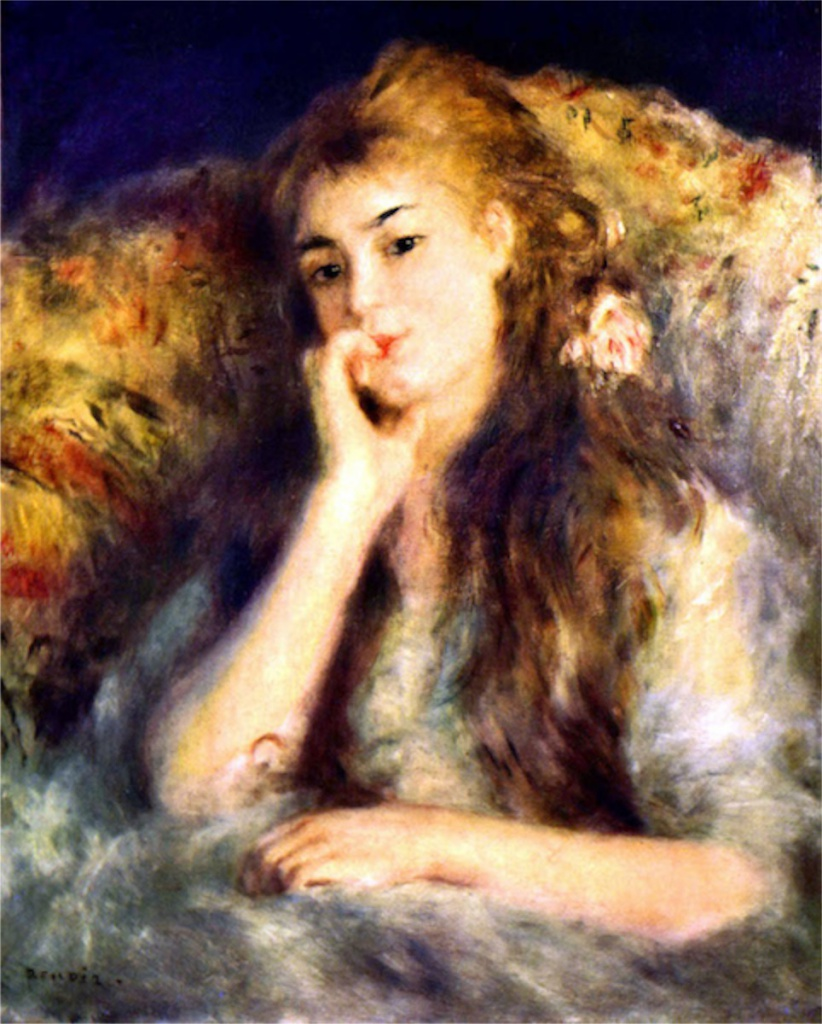 Portrait of a girl in thoughts by Renoir.jpg